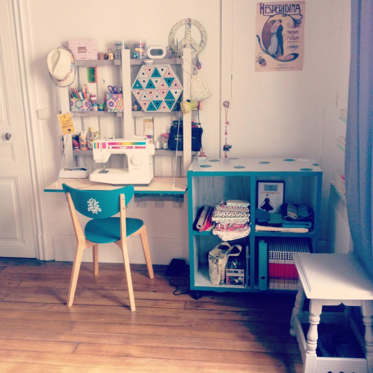 Création et décoration d'un atelier en DIY et meuble récup'